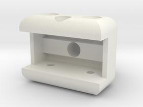 Ag1 Part Tube11mm Attachment V1.1 in White Natural Versatile Plastic