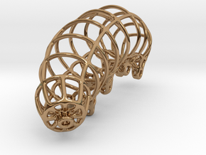 Wireframe Tardigrade in Polished Brass