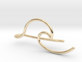 Wave tie bar in 14K Yellow Gold