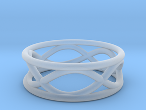 Infinity Ring- Size 7 in Smoothest Fine Detail Plastic