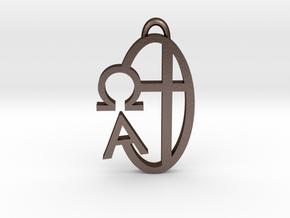 Alpha Omega in Matte Bronze Steel