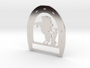 Horseshoe Pendant in Platinum