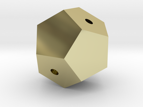 Dodecahedron Tangled in 18K Gold Plated