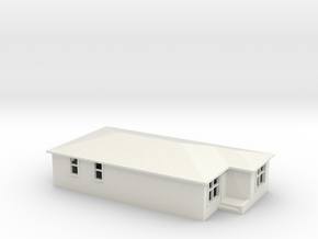 N Scale Australian House #2A-M in White Natural Versatile Plastic
