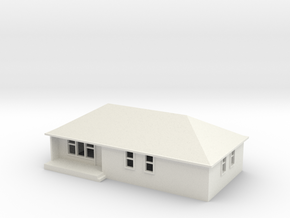 N Scale Australian House #1A-M in White Natural Versatile Plastic