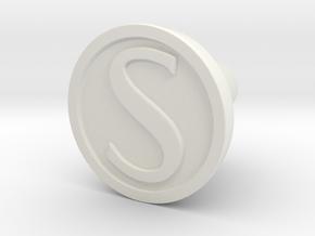 KnobS in White Natural Versatile Plastic