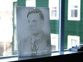 Alan Turing Shadowgram in White Natural Versatile Plastic