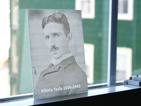 Nikola Tesla Shadowgram in White Natural Versatile Plastic