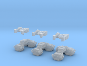 MG144-CT004 Radical Recon Tank (x3) in Smooth Fine Detail Plastic