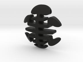 Turtle Necklace Pendant / Longevity Symble in Black Natural Versatile Plastic