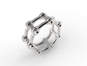 Roma 1  in Rhodium Plated Brass