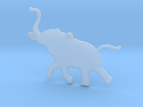 Trumpeting Elephant in Smooth Fine Detail Plastic