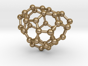 0231 Fullerene C42-10 c1 in Polished Gold Steel