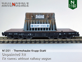 Thermohaube Krupp-Stahl (N 1:160) in Smooth Fine Detail Plastic