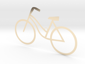 Ladies Bicycle in 14k Gold Plated Brass