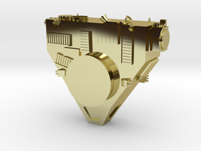 New Horizons Probe Body in 18k Gold Plated Brass