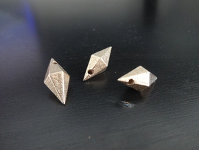 Plumbob earrings in Polished Bronzed Silver Steel