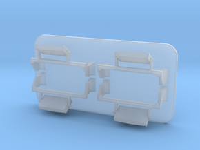 4mm Class 66 Loco Mirrors in Smoothest Fine Detail Plastic