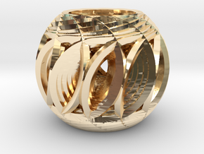 Hyper-Sphere 01 in 14k Gold Plated Brass