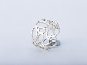 Pebbles ring in Fine Detail Polished Silver