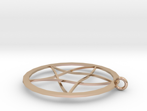 Pentagram Pendent(with Ring) in 14k Rose Gold