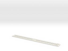 HO Concrete Direct Fixtation Trackmod End in White Natural Versatile Plastic