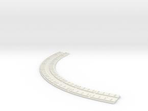 "HO Concrete Direct Fixtation 7"" Radius Track 90deg in White Natural Versatile Plastic"