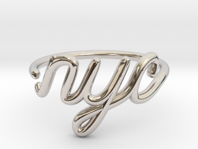 NYC Wire Ring (Adjustable) in Platinum