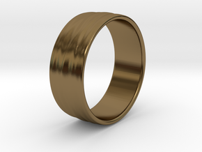 Ripple Ring No.2 in Polished Bronze
