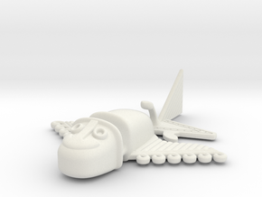 "Pre-Colombian ""airplane"" 2 in White Natural Versatile Plastic"