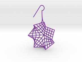 flower (medium_right) in Purple Processed Versatile Plastic