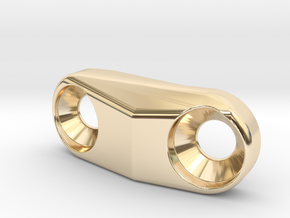 Cover for S3 Low Direct Mount - front derailleur M in 14K Yellow Gold