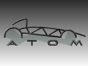 Atom Logo interpretation in Polished Bronzed Silver Steel