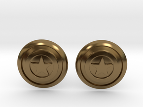 Captain America's Shield Cufflinks in Polished Bronze
