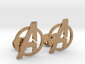 Avengers Cufflinks in Polished Brass