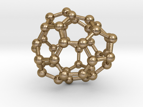 0235 Fullerene C42-14 c1 in Polished Gold Steel