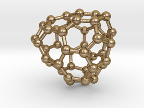 0236 Fullerene C42-15 c1 in Polished Gold Steel
