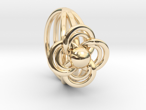 FlowerRing Size 60 in 14K Yellow Gold