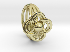 FlowerRing Size 60 in 18k Gold Plated Brass