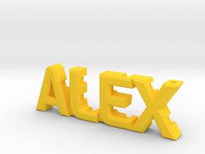 """Alex"" nock depot (Easton G pin) in Yellow Processed Versatile Plastic"