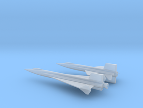 1/285 NAA X-15 + X-15 DELTA WING ROCKET PLANES in Smooth Fine Detail Plastic