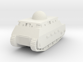 Fiat 2000 (Italian WW1 Tank) 1/200 (Qty. 1) in White Natural Versatile Plastic