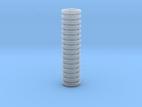 Brake Handwheels (5 curved spoke). in Frosted Ultra Detail