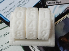 Spinning Life Counter in White Natural Versatile Plastic