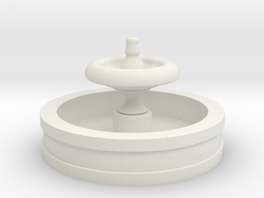 N Scale Fountain in White Natural Versatile Plastic
