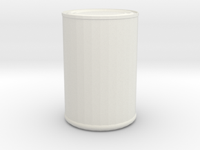 Can in White Natural Versatile Plastic