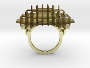 Cross Ring in 18k Gold Plated Brass