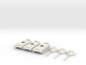 1/144 scale T-55 tanks in White Strong & Flexible