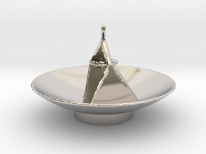 New Horizon's Antenna in Rhodium Plated Brass