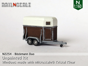 Böckmann Duo Pferdeanhänger (N 1:160) in Smooth Fine Detail Plastic